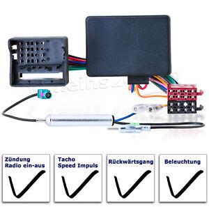 Auto Radioblende Einbauset//Rahmen+Kabel für OPEL Agila B 2007-2014