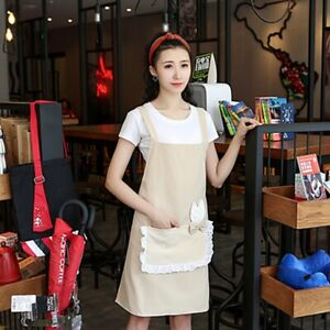 Kitchen & Table Linens Size : A Aprons Kitchen Apron Korean Style Apron Thicker Double Layer Waterproof Lovely Kitchen Apron