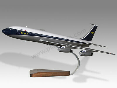 Collectables Boeing 707-400 Boac Solid Dried Mahogany Wood Handmade Airplane Desktop Model High Standard In Quality And Hygiene Aeronautica