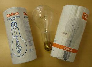 OSRAM-RADIUM-E40-500W-Gluehlampe-klar-Gluehbirne-8-400Lumen-NEU-A-500W-230-T-C
