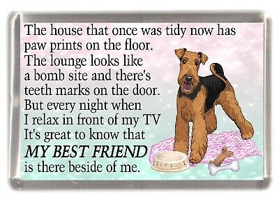 "Lakeland Terrier Dog Fridge Magnet /""Greatest Landscape Gardener/"" by Starprint"