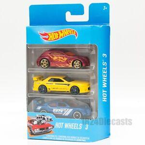Hot-Wheels-Conjunto-de-3-coches-escala-1-64-elige-tu-propio-coche-de-Juguete-Regalo-Paquete-Modelo