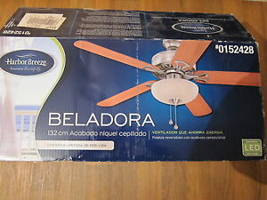 Harbor Breeze 52 In Beladora Brushed Nickel Ceiling Fan