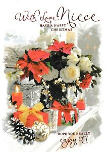 Christmas Wishes Card.Details About Traditional Niece Christmas Wishes Card 3 X Cards To Choose From