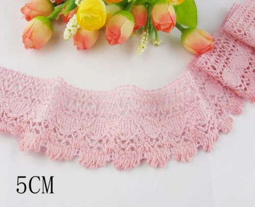 délicat vintage coton crochet dentelle Bricolage//Couture//Artisanat//mariage Dentelle environ 5.49 m 6 YD