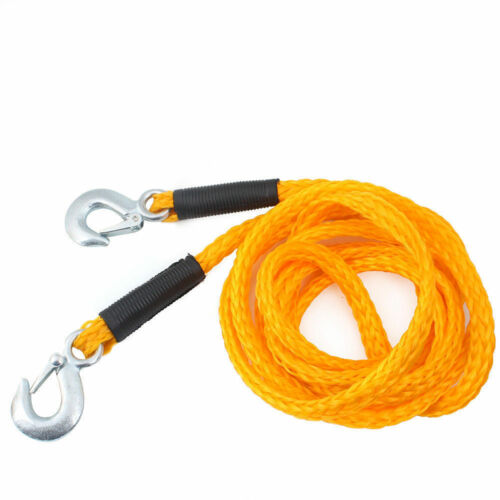 4m Tow Rope 2000kg Vehicle Car Recovery Hooks Elastic Bungee Stretch 2 Ton