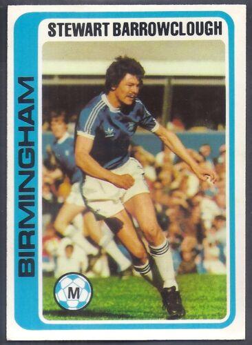 STEWART BARROWCLOUGH -#114- BIRMINGHAM PALE BLUE BACK 1979 TOPPS-FOOTBALL