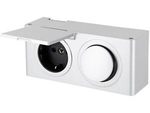 Aufbausteckdose Ip44 Mit Schalter 12v Bad Feuchtraum Steckdose Kombi Box Ebay