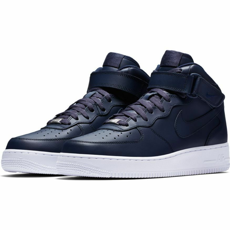 315123-415 Men's Nike Air Force 1 '07 Mid Obsidian/White Sizes 8-12 New in Box