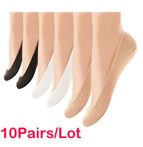 10-Pairs-Womens-Liner-Socks-No-Show-Boat-Ballet-Plain-Footies-Cotton-Low-Cut-Sd