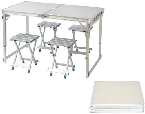Pliant Camp Table en aluminium léger avec 4 tabourets véhicules récréatifs Park PICNIC Portable