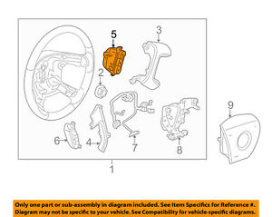 GM-OEM-Steering-Wheel-Audio-Stereo-Remote-Switch-Button-15819311