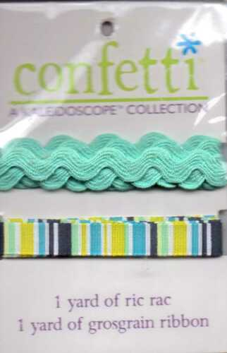 My Mind/'s Eye CONFETTI Kaleidoscope collection ribbons~10 varieties~Adorable!