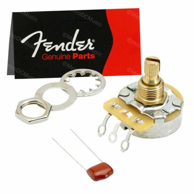 """Fender CTS 250k /""""NO LOAD/"""" Potentiometer Kit Solid-Shaft Pot 0990833000"""
