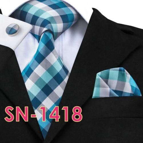 Men/'s Long Solid Tie Hanky Cufflinks Sets Last Silk Ties Formals Wedding Party