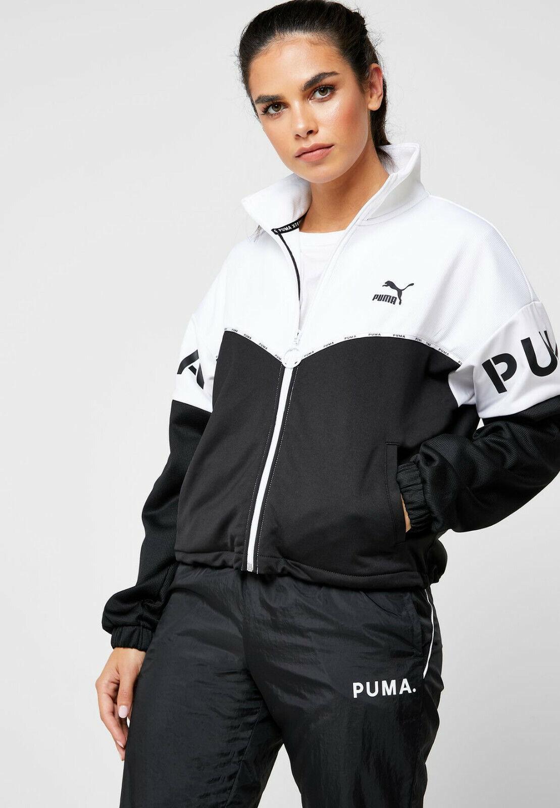 PUMA Xtg Trainingsjacke Damen Schwarz Weiß Active Wear Reißverschluss Top