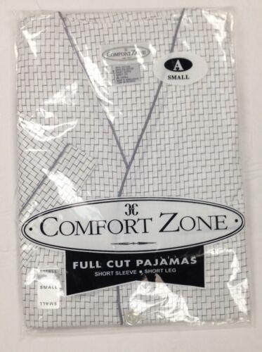 NEW Men/'s 2PC Comfort Zone Short Sleeve//Short Leg Pajama Set  Size S 4 XL