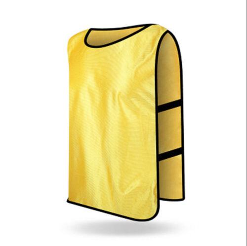 Spring Summer Sports Soccer Football Basketball Vest TRAINING BIBS Kids//Adult