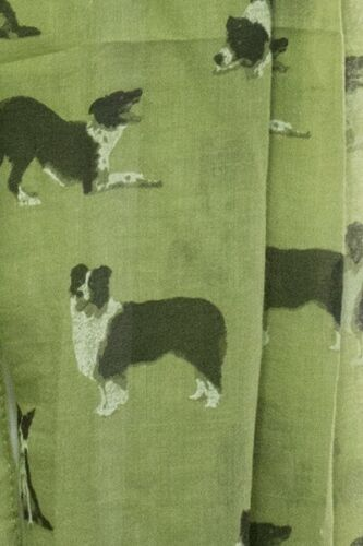 Dog Border Collie Print Women Ladies Scarf Fashion Shawl Cotton Wrap Quality