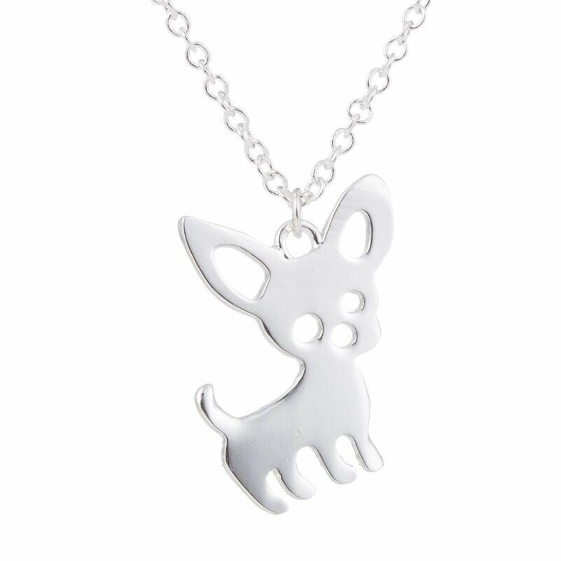 Tinker chihuahua pendant and 20 rolo chain necklace ginger lyne s l1600 mozeypictures Gallery