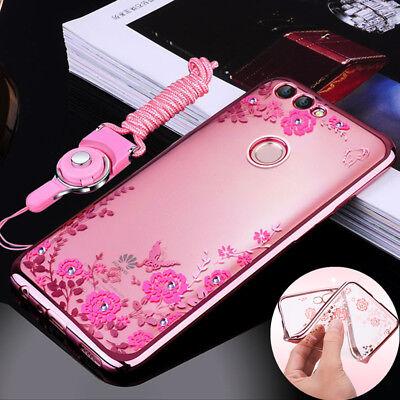 Fr Huawei P Smart/P20 Lite/Y7 Prime 2018 Bling Glitter Soft Gel Phone Cover  Case | eBay