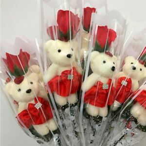 Creative-Scented-Flower-Gifts-Soap-Roses-With-Cute-Teddy-Bear-Valentines-Day
