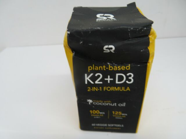 Vitamin K2 + D3 With Organic Coconut Oil For Better Absorption | 2-in-1 Support
