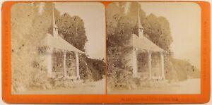 Suisse Cappella Da Guglielmo Tell c1870 Foto Charnaux Stereo Vintage Albumina