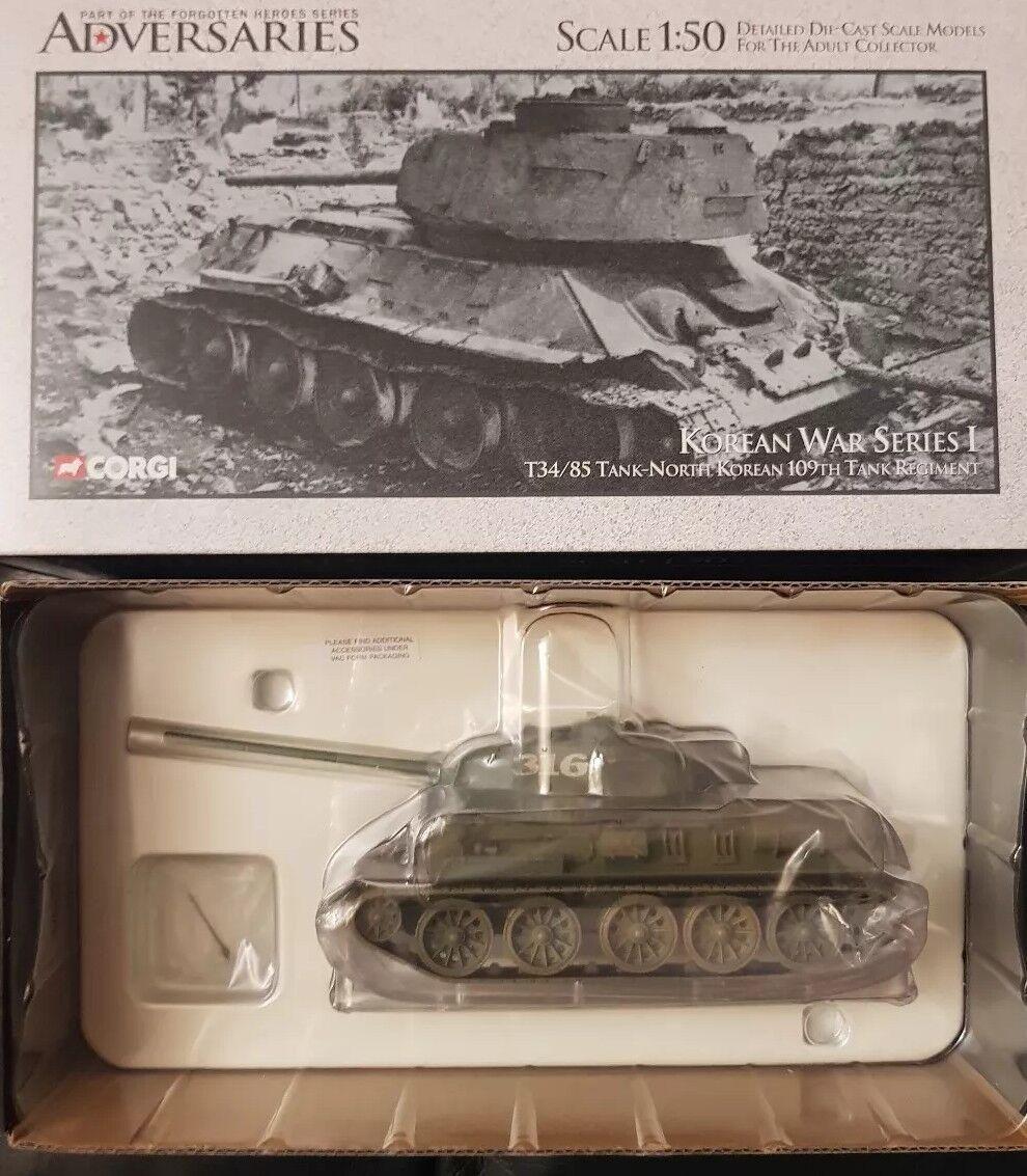 Corgi adversarios T34 85 Tanque-Corea del Norte 109th regimiento de tanque US51601 1 50