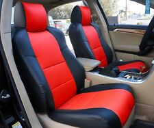 ACURA TL 2004-2008 BLACK/RED S.LEATHER CUSTOM FIT FRONT SEAT COVER