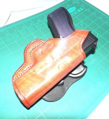 Tagua PD1R-302V2 RH Leather Rotating Thumb Break Paddle Belt Holster Glock 17 22