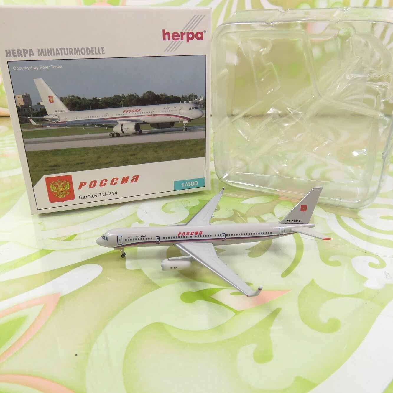 HERPA  514453 -1 500 -Russia State Transport Company Tupolev TU-214-OVP-  Q11133