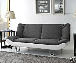 Fabric Sofa Bed 3 Seater Egg Grey Or