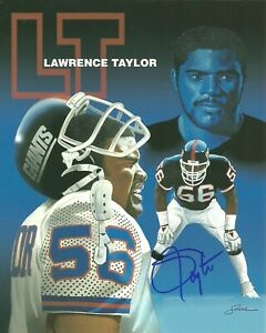 Lawrence-Taylor-Autographed-Signed-8x10-Photo-Giants-REPRINT