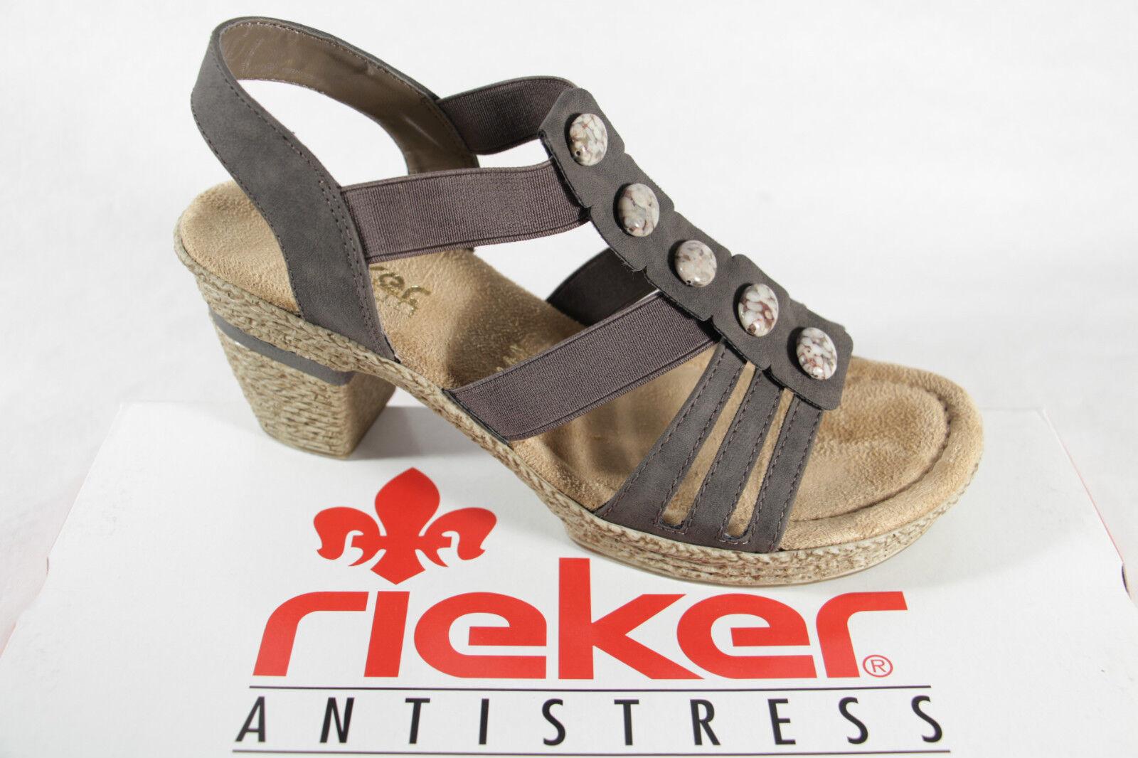 Rieker Damen Sandale grau, weiche Innensohle,  NEU