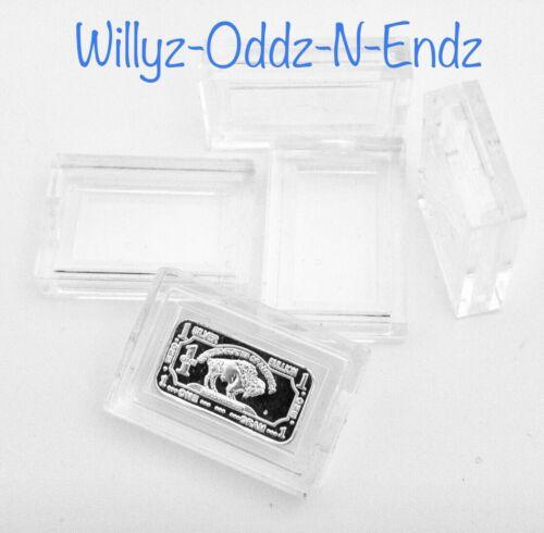10 1 Gram Fine Silver Gold Bullion Bar Airtight Acrylic Holders Cases capsules