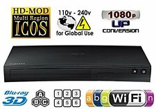 SAMSUNG BD-J5900 Blu Ray Player 2D/3D WI-FI Multi Zone A/B/C Region code Free