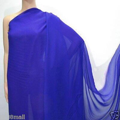 0.5 Yard (Orchid Blue ) Pure Silk Georgette Chiffon Fabric 140cm(#223)