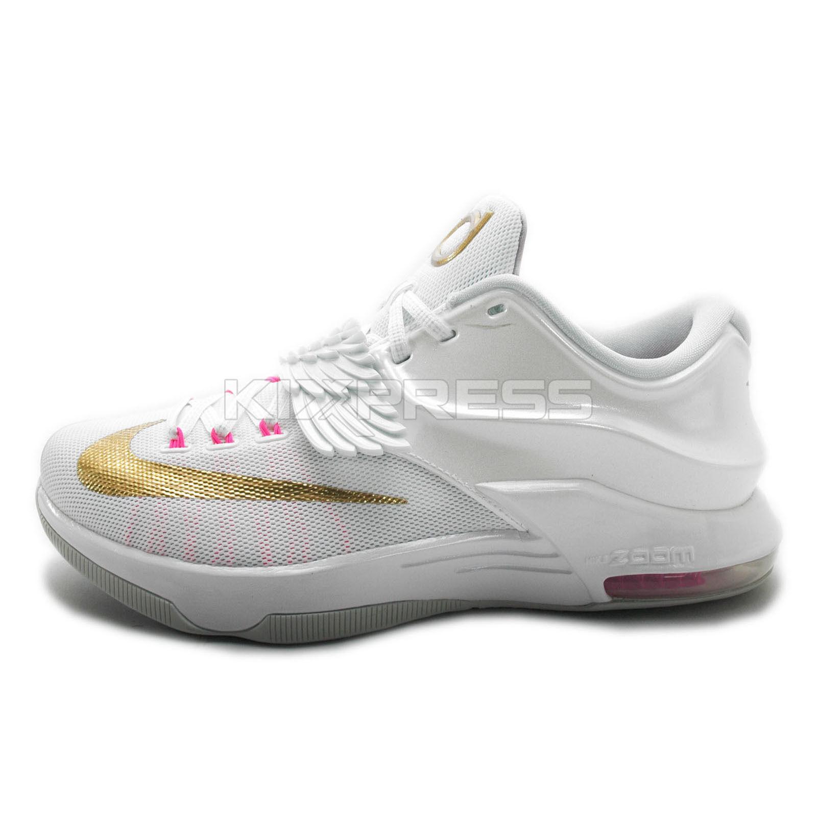Nike KD VII PMR EP Blanco [744984-176] Basketball tía Pearl Blanco EP / Oro Pure Platinum 3187b4