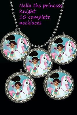 princess Tiana prince and frog theme Bottle Cap Necklaces party favors lot of 10