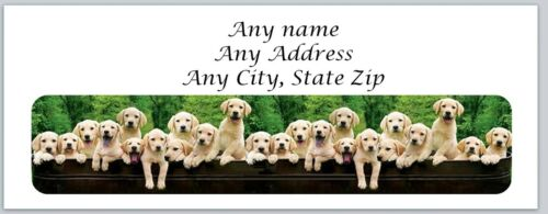 ac 530 Personalized address labels Row of Dogs Buy 3 get 1 free