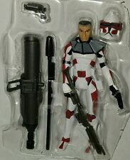 Star Wars LIEUTENANT THIRE Figure CW Rugosa Red Senate Commando Clone Trooper