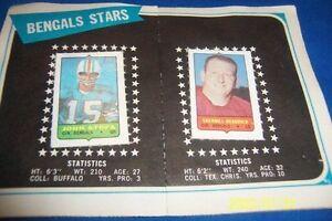 1969-Topps-CINCINNATI-BENGALS-Team-Set-HEADRICK-John-STOFA-Frank-BUNCOM-Free-Sh
