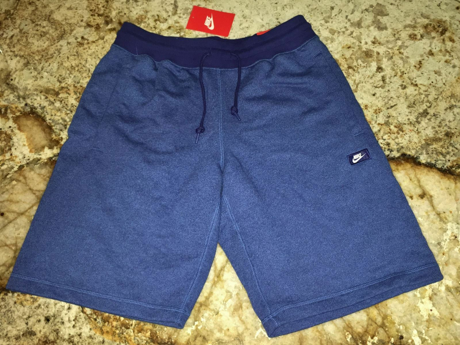 NIKE Sportswear AW77 Alumni shoesbox French Terry Shorts bluee Heather Mens S XL
