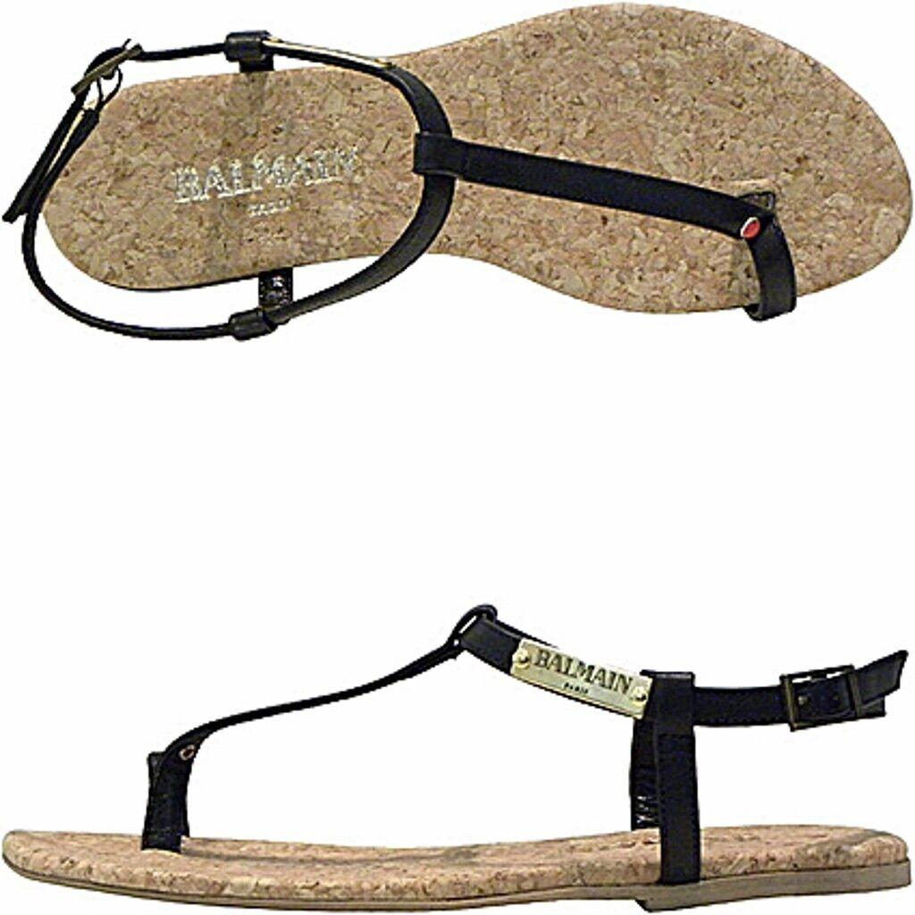 Balmain Balmain Balmain sandalo sughero, cork sandals  precios razonables
