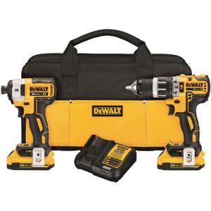 DEWALT-20V-MAX-XR-2-0-Ah-Li-Ion-2-Tool-Combo-Kit-DCK287D2-New