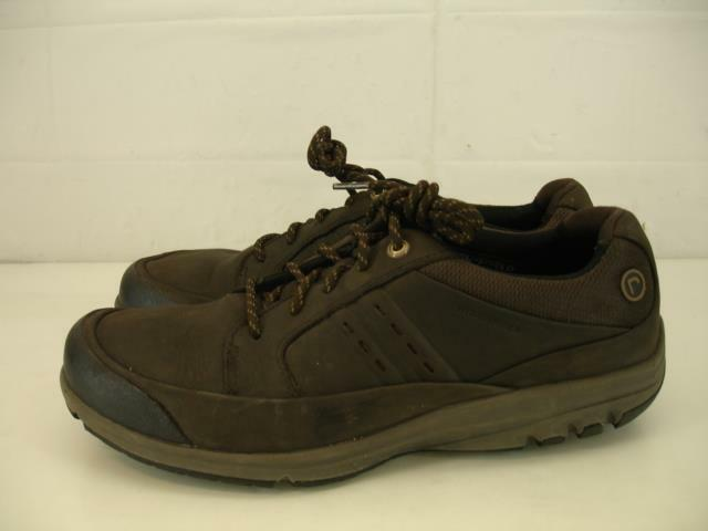 Mens 10 M Rockport SC bluecher WP Brown Waterproof Leather Walking shoes Comfort