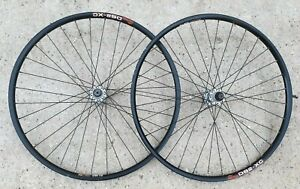 "Pair of Shimano Deore Lx M585 Hubs on Sun DS2-XC rims 26"" Mountain Bike Wheels"