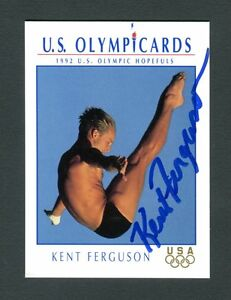 U.S. Olympic Cards Autographed Signed Kent Ferguson Diving jh33