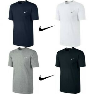 New-Mens-Nike-T-Shirt-Gym-Cotton-Sports-Crew-Neck-Swoosh-Logo-T-Shirts-S-M-L-XL
